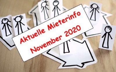 Aktuelle Mieterinfo November 2020